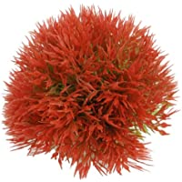 uxcell plástico forma de bola artificial Agua Plantas Adorno para Acuario/Fish Tank, rojo