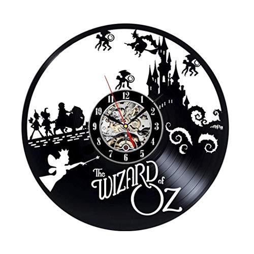 Crazy Hexe (Crazy ogdre Hexe Schloss Vinyl Record Wanduhr Wohnzimmer Schlafzimmer Wand Persönlichkeit Art Deco Wanduhr)