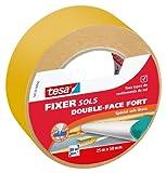Tesa 56139-00000-00 Fixer Sols Double-face Fort Spécial Sols Lisses 25m x 50 mm