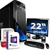 Gaming PC Komplett Set/Multimedia Computer|Win 10 Pro 64-Bit|AMD Quad-Core A10-7800 4x3,9GHz Turbo|AMD Radeon HD R7000|22 Zoll TFT|16GB DDR3 RAM|120GB SSD+1000GB HDD|HDMI|Gamer PC|3 Jahre Garantie