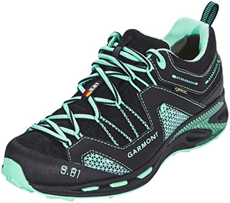 Garmont 9.81 Trail Pro III GTX Shoes Women Black/Light Green 2018 Schuhe