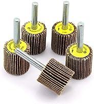 DIY Crafts Sanding Flap Wheels Kit Grit Grinding Polish Wheel 1/4 Inch Shank Polishing Abrasive Mounted Flap W