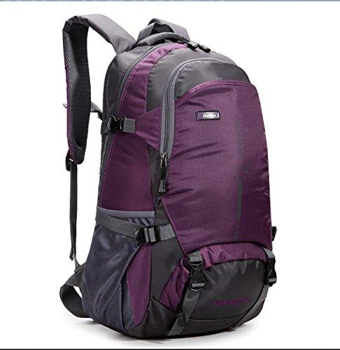 BUSL Outdoor-Bergsteigen Tasche Umhängetaschen für Männer und Frauen wasserdicht atmungsaktiv lässig Rucksack Purple