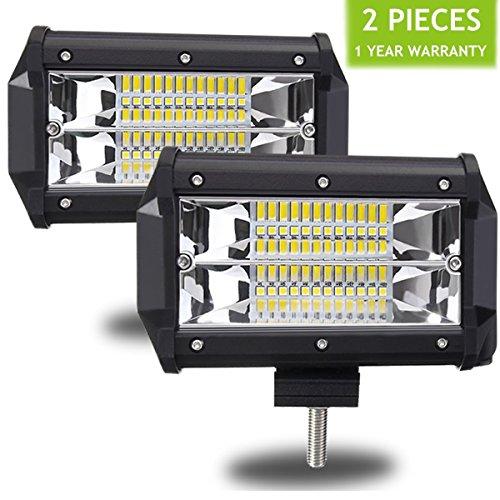 AMBOTHER 2X Lampe de Travail 5 Inch 72 W IP67 étanche Supplémentaire Phare Projecteur de Travail