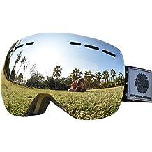 Gafas de Snowboard - Sin Marco Cambiante, Snowledge de Doble Lente Esférica, Contra Arañazos y Anti - Niebla, Para Hombres y Mujeres Gafas de Esquí - 100% Contra UV
