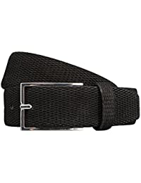 STRELLSON ceinture hommes ceinture en cuir cuir velour noir