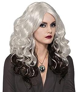 Forum Novelties X76623 Peluca fundida, para mujer, color plateado y negro, talla única