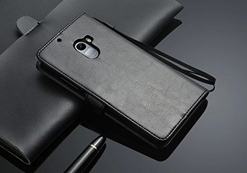 Excelsior Premium Leather Wallet Flip Cover Case For Lenovo K4 Note - Black