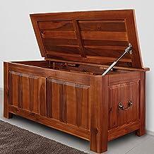 Coffre malle en bois - Caisse pour bois de chauffage ...