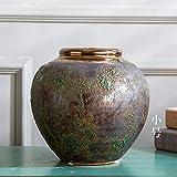 OPPP The vase Bodenvase Aus Keramik, Antike Keramikblume, Alte Grüne Glasur, Heimtextilien, Klein