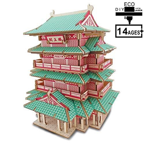 YXST 3D Puzzles DIY Modelle HolzbausäTze Lernen Spielzeug Woodcraft GebäUde Set