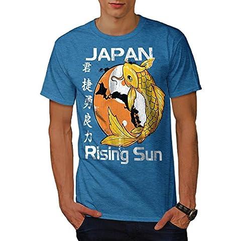 En hausse Soleil Japon koi Carpe Poisson Men M T-shirt | Wellcoda