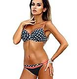 LJTDE Weibliche Badeanzug brasilianischer Badeanzug Frauen Badegäste am Strand Schwimmen badehosen ich Farbe XL
