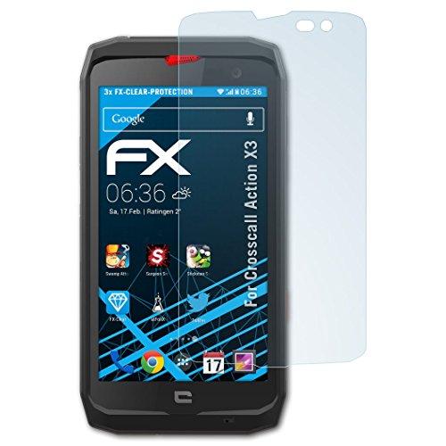 atFolix Schutzfolie kompatibel mit Crosscall Action X3 Folie, ultraklare FX Bildschirmschutzfolie (3X)