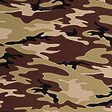 Stoff Jersey Baumwolljersey Vera Camouflage Grün 50cm x 160cm Stoff Zum Nähen Meterware