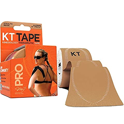 KT TAPE Pro, Vorgeschnittene, 20 Streifen, Synthetisch, Beige