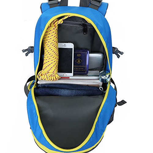OHREX 40 Liter Outdoor Wasserdicht Bewegung Wandern Camping Reise Bergsteigen Klettern Tornister Der Rucksack Taschen Trekkingrucksäcke Schulrucksäcke Wanderrucksäcke Dunkelblau