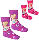Unbekannt 1 Paar - Socken -  Disney die Eiskönigin - Frozen  - Größen 31 / 34 - für Kinder / Mädchen - Baumwolle - Kindersocken - völlig unverfroren Prinzessin ELSA A..