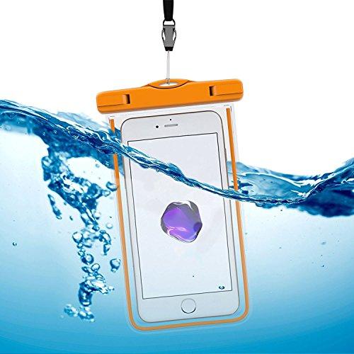 Arktis Wasserdichte Smartphone Schutzhülle Beachbag - Orange Orange