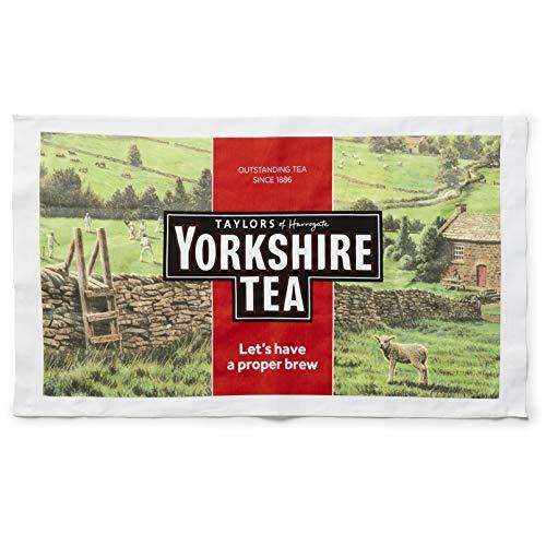 Yorkshire Tea Asciugamano, Cotone, Red, 1 x 1 x 1 cm