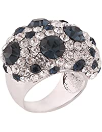 Shaze Silver-Plated Stylish Bold Dalmation Cocktail Ring for Women/Girls | Gift for Her