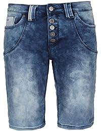 Urban Surface Damen Bermuda Sweat Jeans Shorts | Kurze Hose aus bequemen Sweat-Material in Jeansoptik