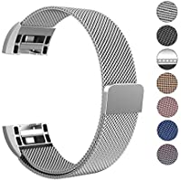 """Swees Milanese Fitbit Charge 2 Armband Wrist Band Strap, Samll-Large(5.5""""-9.9"""")"""