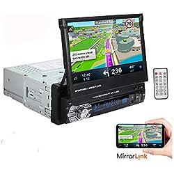 BOOMBOOST 1 DIN 7 Pulgadas 1080P Reproductor de Radio estéreo para automóvil Pantalla táctil LCD Soporte Bluetooth Manos Libres