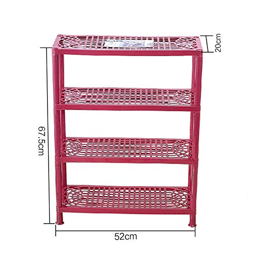 Qinqin666 Shoe Stand Storage Organiser Rack Lightweight Compact red 4th Floor