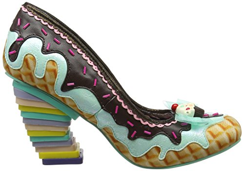 Irregular Choice Damen Sweet Treats Pumps Multicolour (Mint/Black)