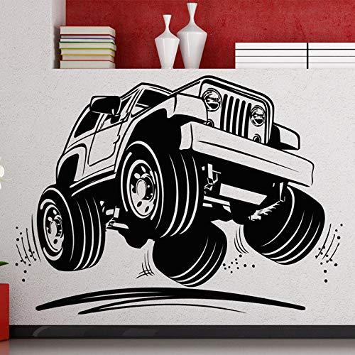 JXLK Decorazione murale Creativa Adesivi murali in Vinile SUV Vuoti Camera del Ragazzo Decorazione Domestica autoadesiva 58x80cm