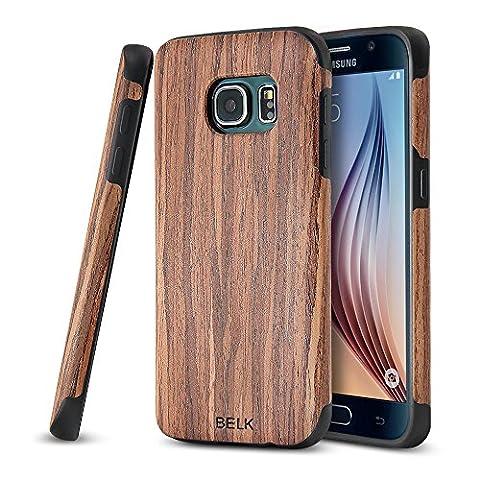 Belk Coque en bois antidérapant et TPU souple pour Samsung Galaxy S7/S7 Edge , cerise, Samsung Galaxy S7 Edge, 5.5 in