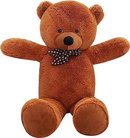 SHAIK® XL Kuschel-Teddybär 100-180 cm (diag.) groß in Braun und Weiss - TÜV SÜD geprüft - Plüschbär Teddy Kuscheltier Stofftier (150 cm, Braun)