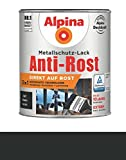 ALPINA Metallschutzlack Anti-Rost Matt, Schwarz matt 2,5 l