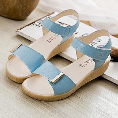 Spiaggia Dolce Sandali Scarpe Iniziale Estate Da Blu Perline Fulltime®femmes w0qTdgx50