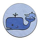 Unbekannt Baby Wal Anti-Rutsch-Matten Zirkular Teppich Mats Esszimmer Schlafzimmer Teppich Fußmatte 59,9cm