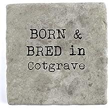 Born et élevage carrelage en marbre de Cotgrave–Boisson Dessous de Verre, 10 x 10 cm