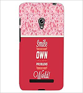 PrintDhaba Quote D-3292 Back Case Cover for ASUS ZENFONE 5 A501CG (Multi-Coloured)