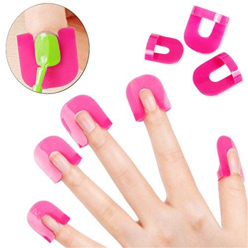 ECYC 26pcs Outil de protection de protecteur de vernis à ongles Finger Manicure pour garder le vernis à ongles de renverser