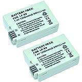 MP power ® Remplacement Batterie Li-ion type 2 x LP-E8 LPE8 LP E8 avec infochip 1200mah pour Canon EOS 550D 600D 650D 700D