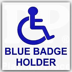 platinum place autocollant pour voiture carte de stationnement pour handicap bleu. Black Bedroom Furniture Sets. Home Design Ideas
