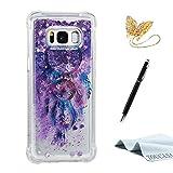 TOUCASA Funda Galaxy S8, Glitter Brillante Liquida Transparente TPU Silicona,Funda Móvil Case Líquido Quicksand Anti-arañazos Brillante Case Cover para Samsung S8-Atrapasueños