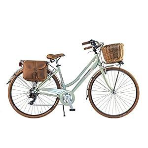 CANELLINI Via Veneto By Bicicletta Bici Citybike CTB Donna Vintage Retro Dolce Vita Alluminio Verde C (46)