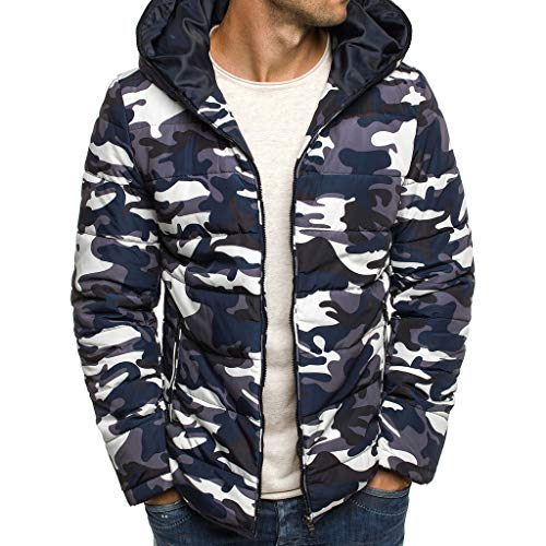 Mens Camouflage Zipper Wool Blouse Thickening Coat Pullover Outwear Top Blouse by LuckyGirls