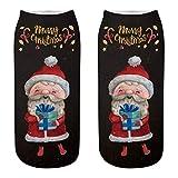 Luckycat navidad calcetines Deporte calcetines pilates Básico medias de compresion mujer calcetines cortos niña Santa claus medias mujer transparentes Fiesta medias mujer sexy talla grande