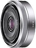 Sony SEL16F28, Super-Weitwinkel-Objektiv (16 mm, F2,8, E-Mount APS-C, geeignet für A5000/ A5100/ A6000 Serien & Nex) silber
