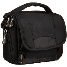 AmazonBasics - Bolso con correa para videocámara, color negro