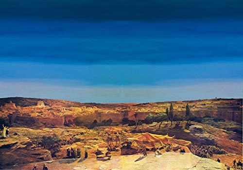 Hintergrund arabischen Krippe Landschaft 100x 70cm