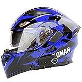 NMBE-helmet Casque de Moto modulable pour Casque de Moto de compétition certifié...