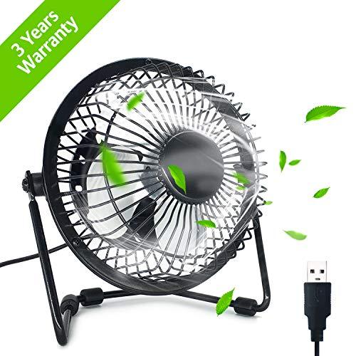 Ezlife Ventilador USB, Mini Ventilador Portátil 4 Pulgadas Rotación 360º Ajustable Silencioso...